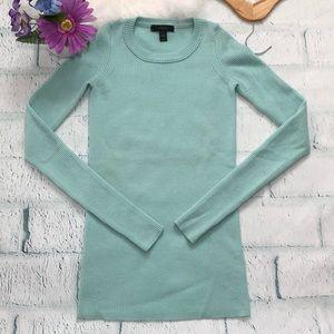 J. Crew ribbed scoop neck sweater green size XXXS